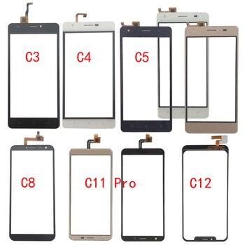 Touch Screen Glass For Oukitel C3 C4 C5 C8 C11 Pro C12 Touch Screen Glass Digitizer Panel Glass Sensor Mobile Phone Adhesive oukitel c12plusblack
