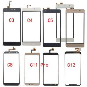 Image 1 - Vidro da tela de toque para oukitel c3 c4 c5 c8 c11 pro c12 painel digitador vidro sensor vidro do telefone móvel adesivo