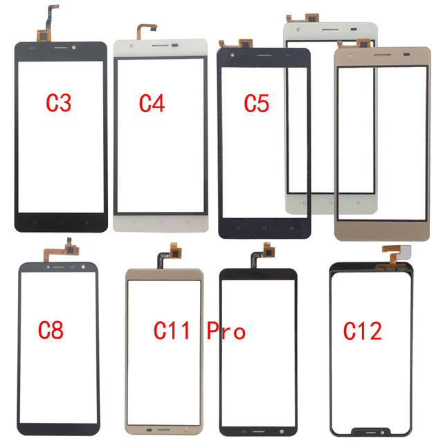 Vidro da tela de toque para oukitel c3 c4 c5 c8 c11 pro c12 painel digitador vidro sensor vidro do telefone móvel adesivo
