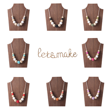 Let's Make 1PC Crochet Beads Necklace BPA Free Silicone Beads DIY Crafts Food Grade Materials Baby Gift Teething ToyBaby Teether недорого