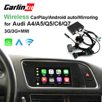 2019 Car Apple CarPlay Android Auto Wireless Decoder for Audi A4 A5 Q5 C6 Q7 MMI Original Screen Reverse Image Retrofit Kit