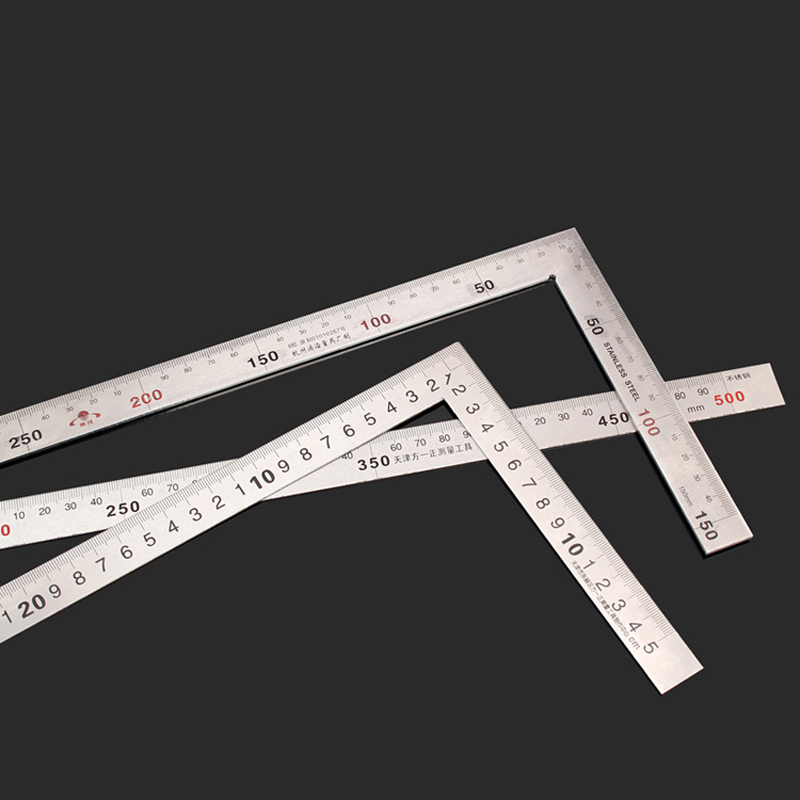 Affordable Stainless Steel 15 30mm 90 Degree Angle Metric Mitre Square Ruler-in Rulers