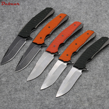 Dcbear Newst Folding Knife S35VN Blade Outdoor Tops Knife Stone Wash Black Blade Outdoor Survival Camping Knives EDC Tools