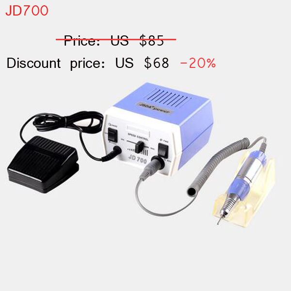 35W Nail Gel Polish Drill Bits Tools Electric Polisher Machine For Manicure Pedicure Nails Art Equipment new pattern beautiful first charge polish manicure machine portable 30000 high capacity nails drill nail art equipment