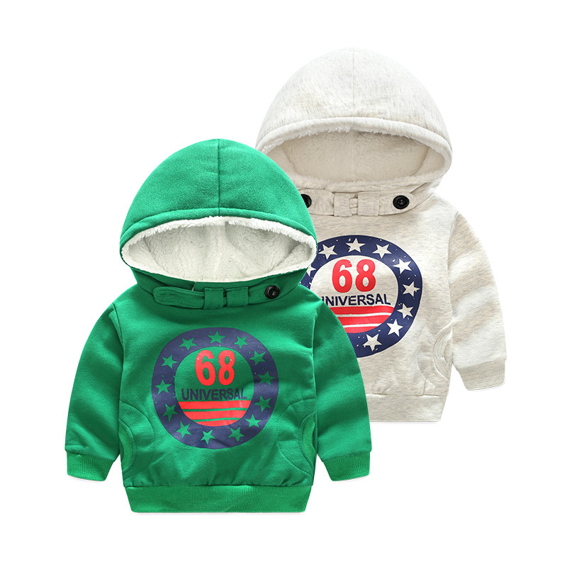 Tem Doger HOT boys winter clothes thick cotton kids coat clothing children Hoodies grey green jacket size 100-140