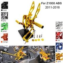 купить CNC Aluminum Adjustable Rearsets Foot Pegs For Kawasaki Z1000 ABS 2011 2012 2013 2014 2015 2016 дешево