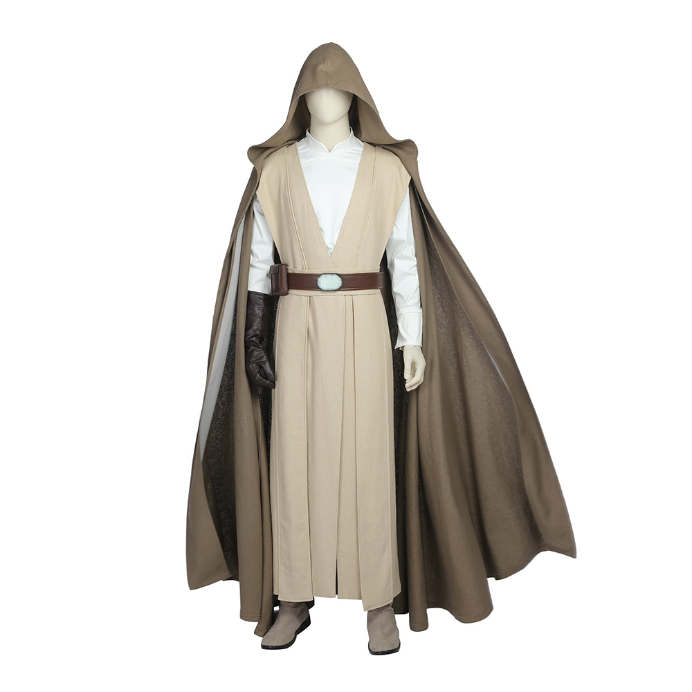 Hot Star Wars 8 The Last Jedi Cosplay Luke Skywalker Cosplay Costume Halloween Carnival Party Outfit Costume Custom Made