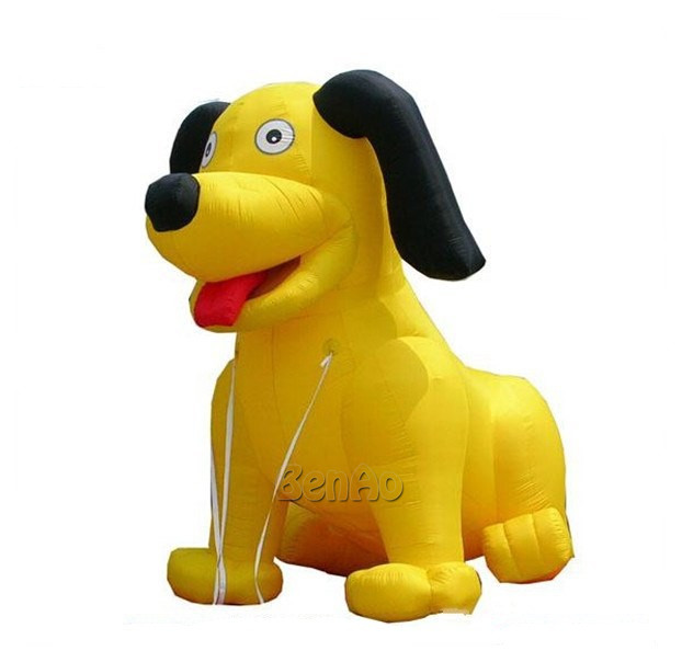 AC240 BENAO 5m Giant yellow inflatable Cartoon happy dog for promotion/Advertising Giant Dog Replica For EventAC240 BENAO 5m Giant yellow inflatable Cartoon happy dog for promotion/Advertising Giant Dog Replica For Event