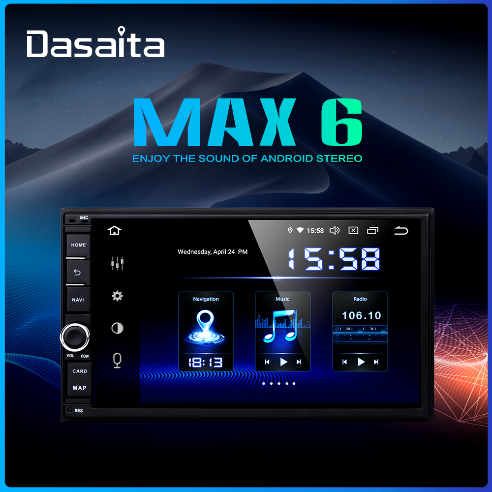 """Dasaita Android Universal Car 2 Din Radio 7"""" IPS Screen Android 9.0 Stereo Multimedia Navigation for Nissan Built in DSP-in Car Multimedia Player from Automobiles & Motorcycles"""