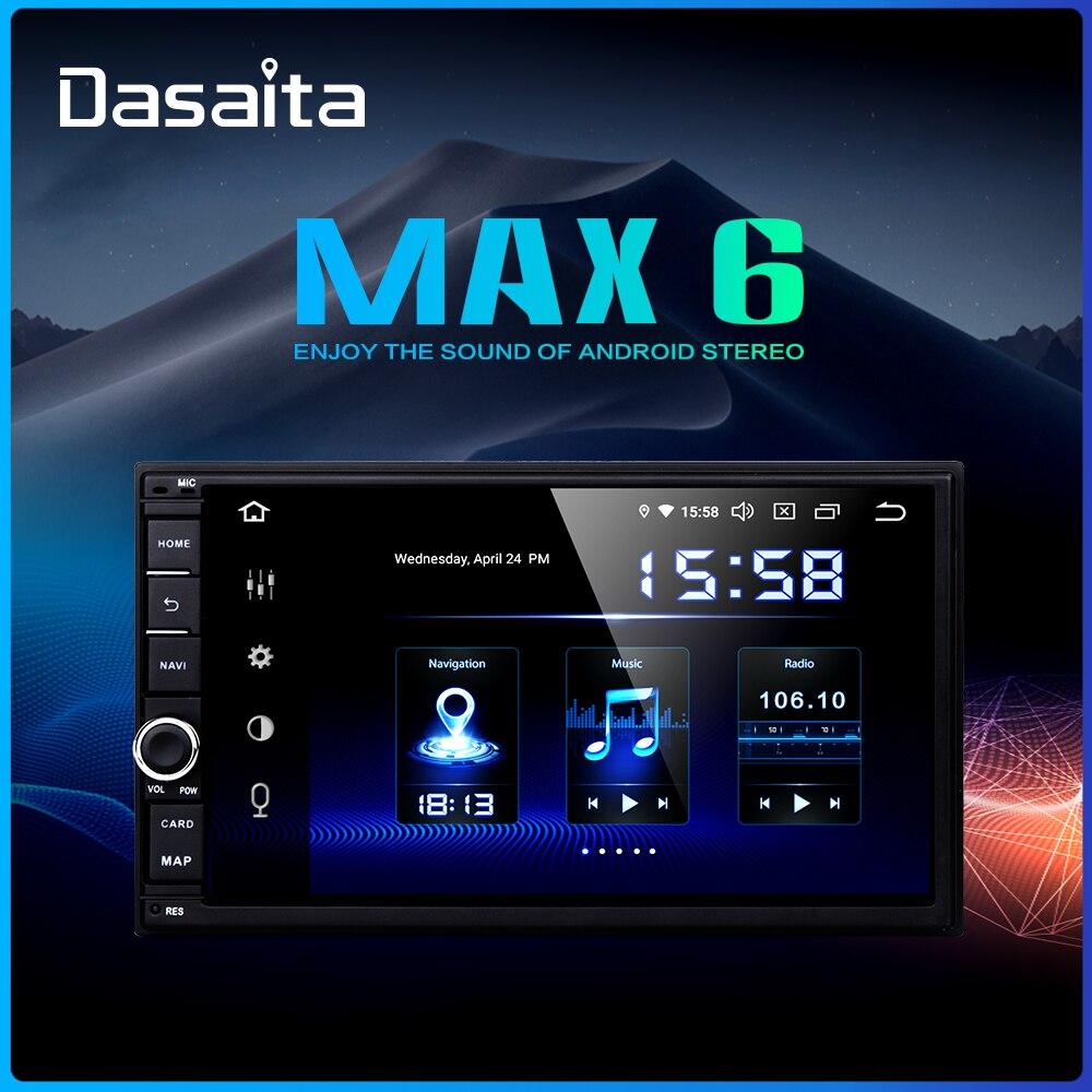Dasaita Android universel voiture 2 Din Radio 7 IPS écran Android 9.0 stéréo multimédia Navigation pour Nissan intégré DSP