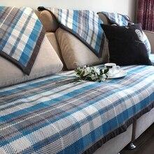 quality Summer rangel thickening linen fabric sofa towel personality overlock