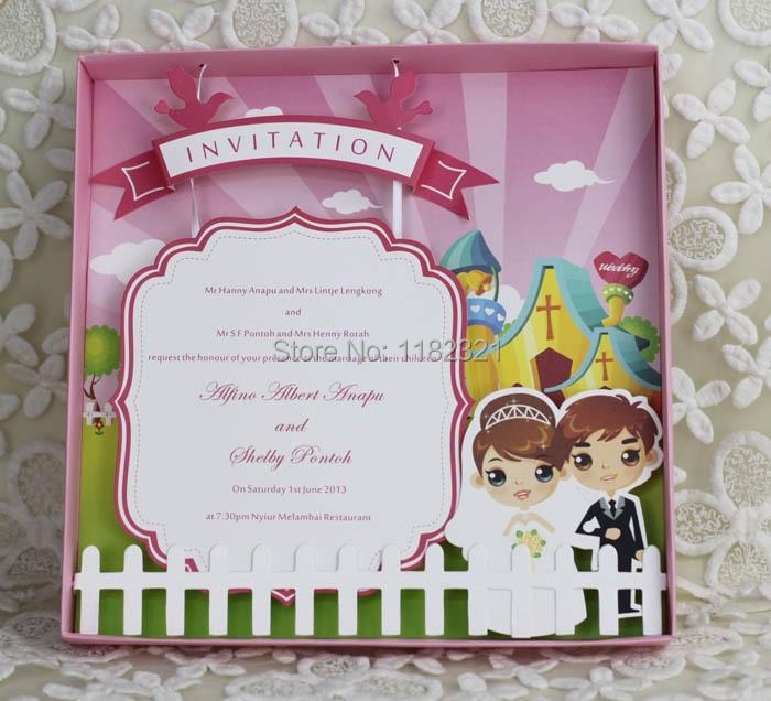 New coming 3d cartoon box wedding invitation card birthday 3d cartoon box wedding invitation card birthday invitation e486 on aliexpress alibaba group stopboris Gallery