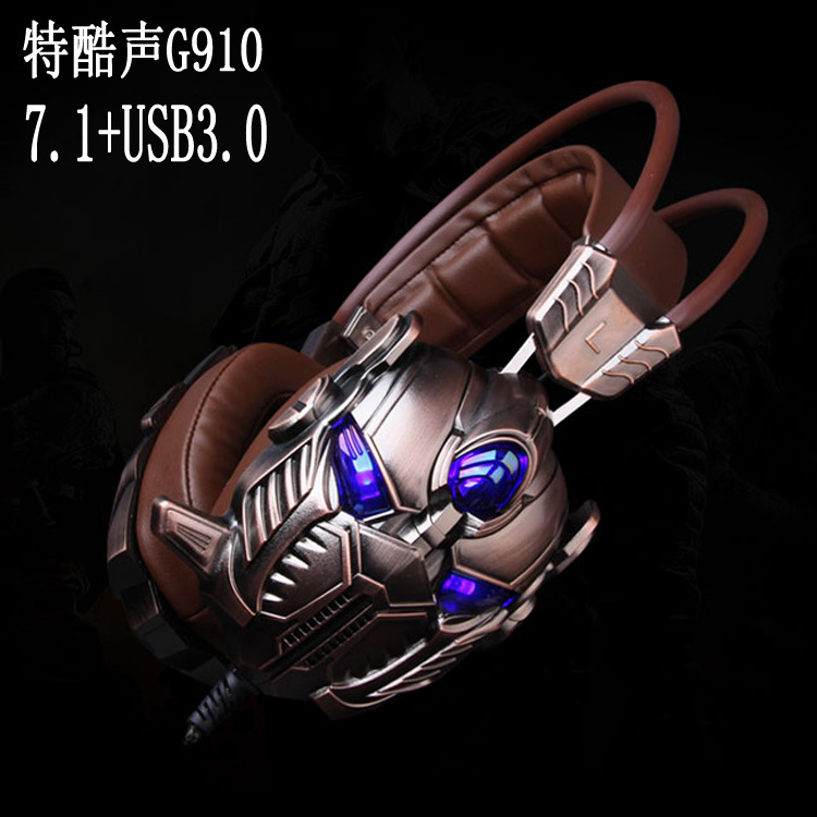ФОТО G910 Usb 3D 7.1 Surround Sound Gaming Headset With Mic Led Light Vibration Pro Game Headband Headphone For Pc Game Lol And Cf