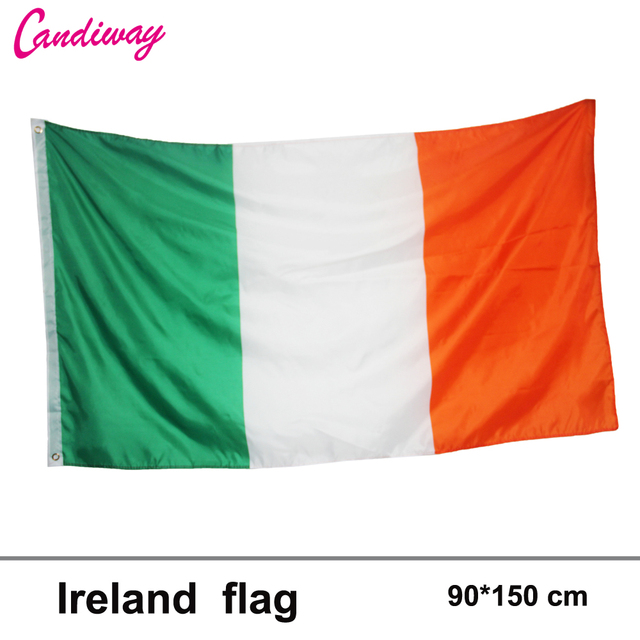 Irish flag High Quality Indoor banner No Flagpole Home decoration ...