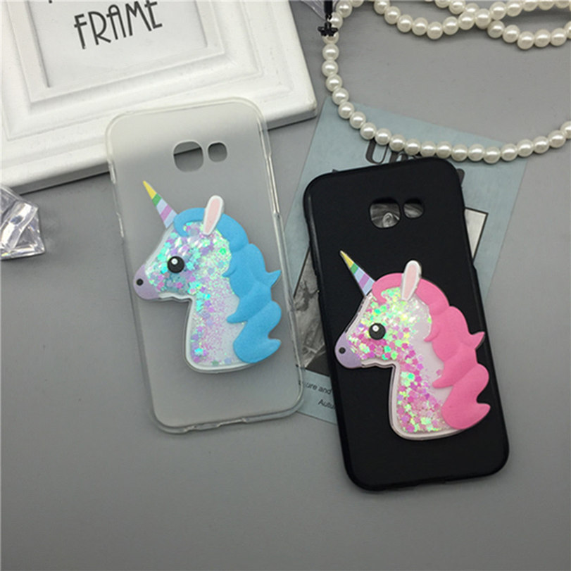 3D Unicorn Quicksand Liquid Soft Silicone Case for Samsung Galaxy J1 Mini SM-J105 / J1 Nxt Duos Phone Cover
