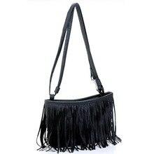 Купить с кэшбэком 2018 Fashion Travel Bags for women small PU tassel female ladies Crossbody Shoulder Bag Suede Weave Duffle Messenger Travel Bag