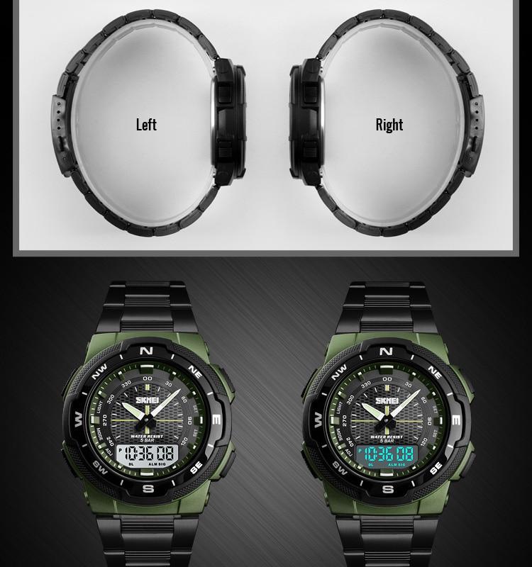 SKMEI 1370 Stainless Steel Waterproof Wrist Watch 8