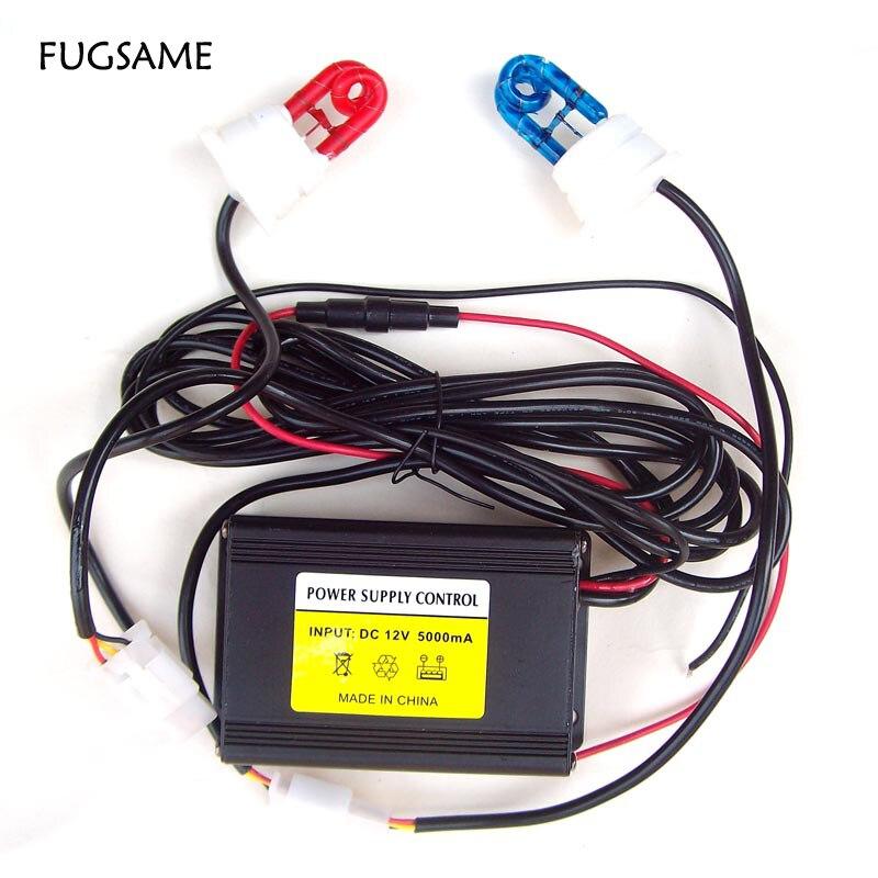 Lumière stroboscopique au xénon bleu rouge FUGSAME, ampoules stroboscopiques au xénon de type DC12V, 60 W,