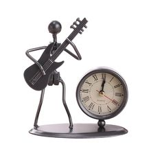 Creative Iron Stainless Steel Small Seat Clock Art Retro Personal Birthday Gift Home decoration