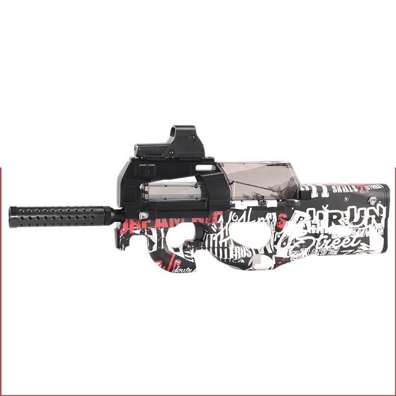 Électrique P90 Graffiti Édition Jouet Pistolet CS Live D'assaut Snipe Simulation Arme En Plein Air Doux Balle de L'eau Gun Jouets Pour Garçons enfants - 4