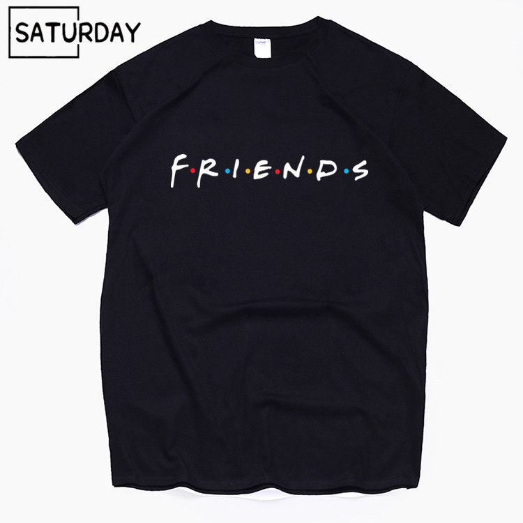 Men's Tv Friends Harajuku Funny Cotton T Shirts Unisex Summer Workout Tshirts Women Hip Hop Tops Boyfriend Gift Dropshipping