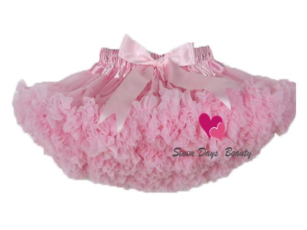 Pettiskirt con Volantes bebé Tutu falda falda Del Bebé de la Muchacha de una pieza al por menor vestido de bola niñas falda del tutú de ballet