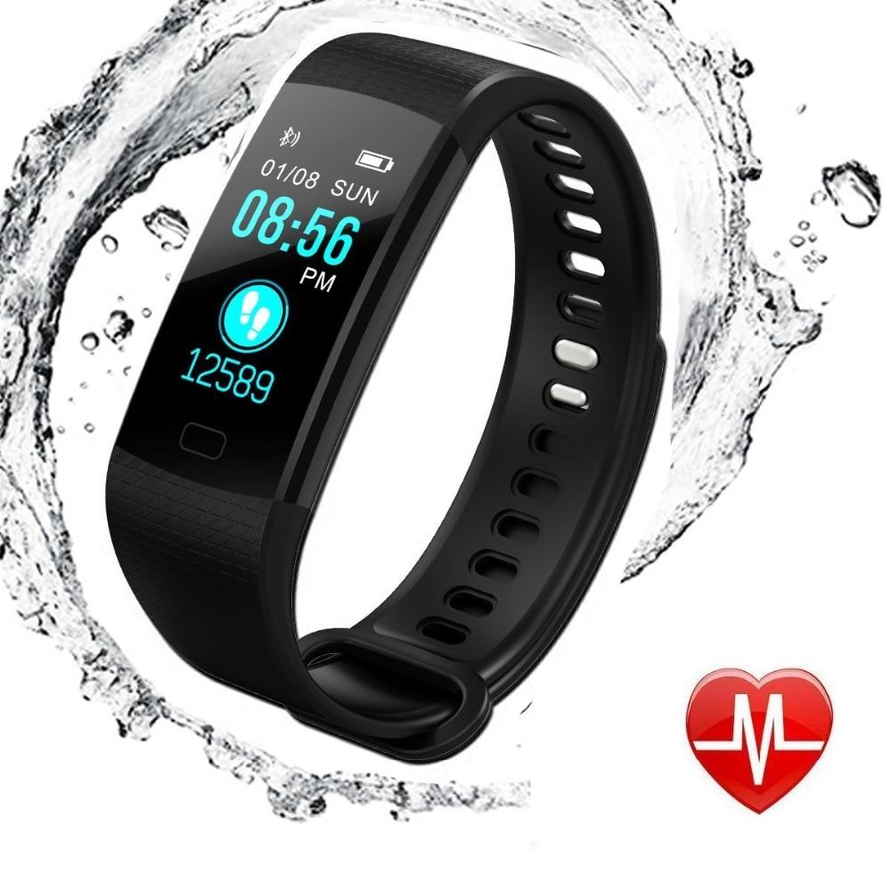 Hiwego Y5 Smart Band hommes montre couleur écran Bracelet fréquence cardiaque activité Fitness tracker Bracelet électronique pour Xiaomi 2018