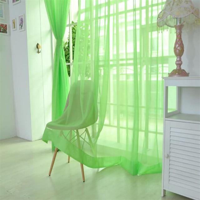 2 pz Lungo 270*100 CM colore Puro Francese finestra Tulle tenda della Porta Fine