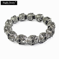 Black Zircona Skull Pave Punk Bead Bracelets 2017 Ts Super Deals Heart Gift In Silver Thomas
