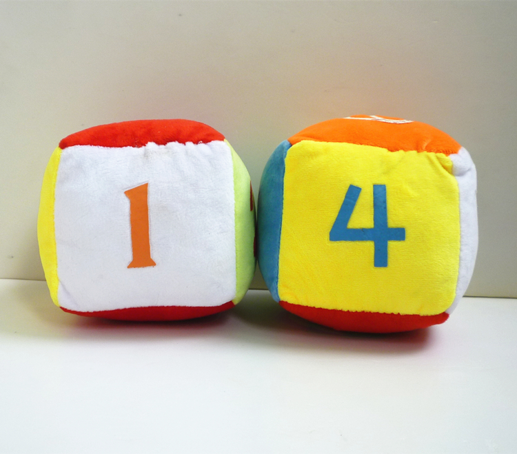 12cm dice plush toy educational toys for children building blocks new infant baby font b doll