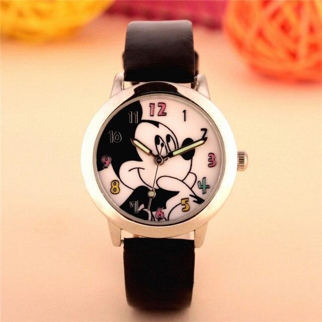 2019 New Fashion cute mickey design kids Watch Quartz Jelly Clock girls Students