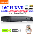 New CCTV 16Channel XVR Video Recorder All HD 1080P 5-in-1 16 CH Super DVR Recording support AHD/Analog/Onvif IP/TVI/CVI Camera