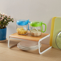 Convenient Solid Home Dish Rack Wooden Kitchen Supplies Plate Drying Multifunctional Decorating Storage Holder Desktop Gift