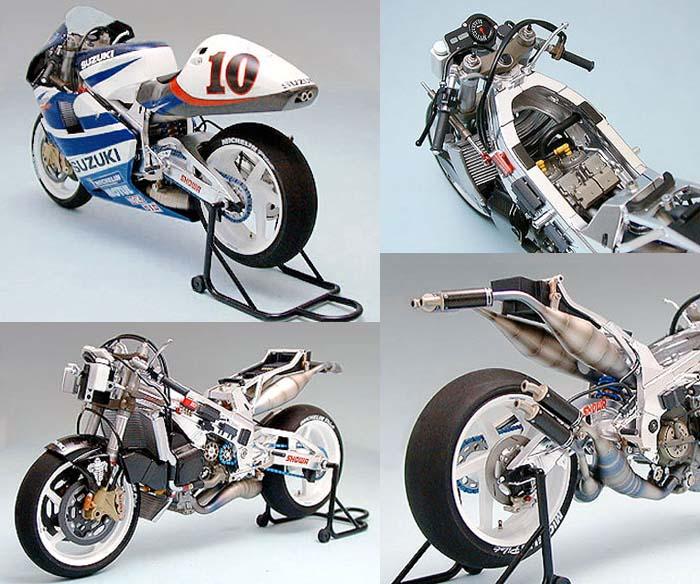 Assemble Motorcycle Model 14081 1/12 SUZUKI RGV-T XR89 Motorcycle