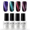 Yaoshun 4pcs Nail Gel Polish UV Soak Off Magnetic Cat Eyes Nail Gel Varnish Long Lasting Led Gel Lacquer