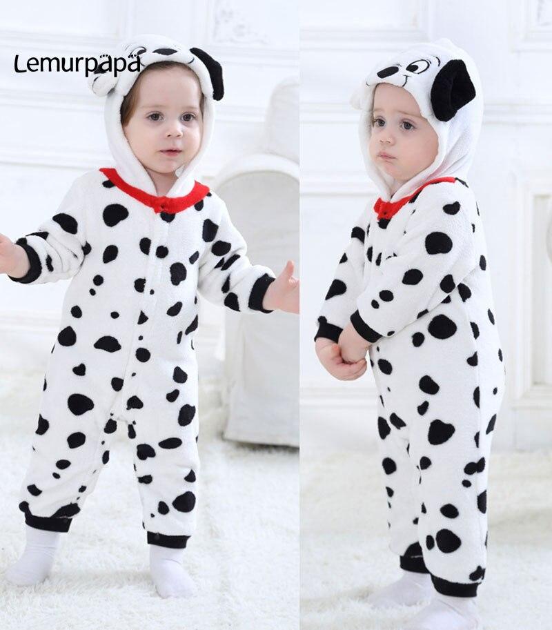Image 5 - Baby Warm Romper Dalmatian Cartoon Onesie Kids Boy Girl Jumpsuit Animal Dog Costume Toddler Playsuit Newborn Clothes Kigurumi-in Rompers from Mother & Kids