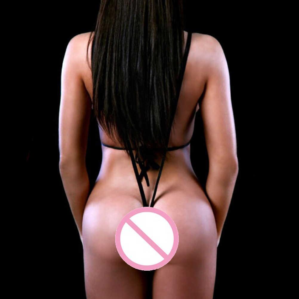 1Pcs Seksi V Leher Pakaian Kostum Wanita Seksi Lingerie Hitam PU Kulit Erotis Lingerie Teddy Baju