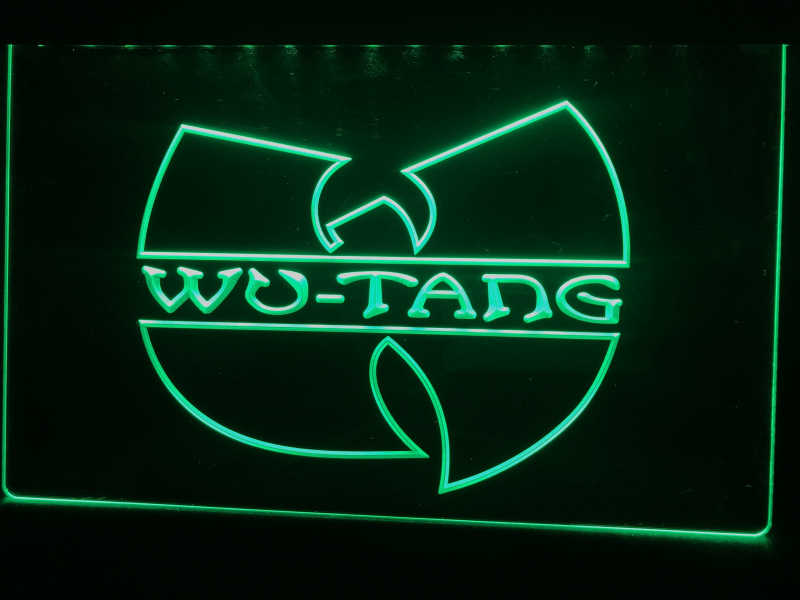 C110 Wu Tang Band Logo Bir Bar LED Lampu Neon Sign