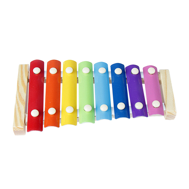 Colorful Wooden Music Instrument Toy Infant Baby Playing Knocking Piano Musical Toy Early Educational Toy