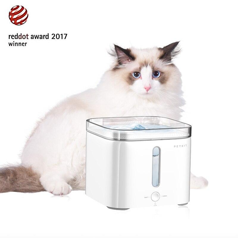 PETKIT Elétrica Pet Dog Cat Fonte de Água Potável Dispensador de Água alimentador automático bebedor cães quadrado comederos mascotas parágrafos