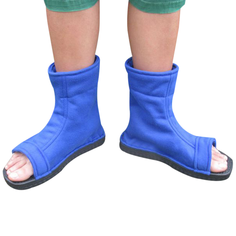 2017 fashion Cosplay Shoes Top naruto cosplay Konoha Ninja Village Black Blue Sandals Boots Costumes Halloween Gift new