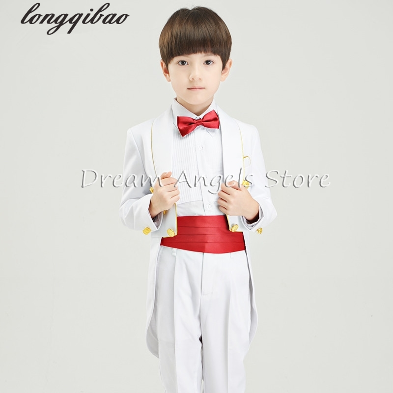 2a343156f14e 2017 new fashion baby boys kids children tuxedos suits boy suit for  weddings formal black white piano performances tuxedo dress