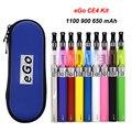 Kit eGo ce4 E cigarro com Colorido Zipper Carry Case eGo-T Kits Ego 650 mAh 900 mAh 1100 mAh ego kits de Cigarro Eletrônico