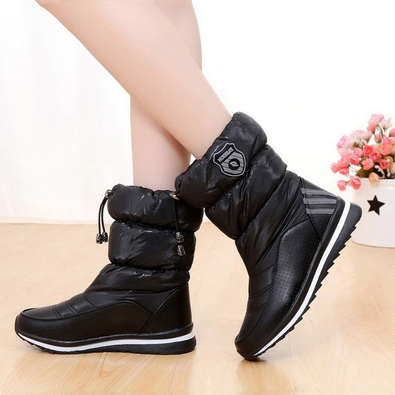 Women snow boots waterproof 2017 new arrivals warm resistant women boots high quality thick plush platform winter shoes