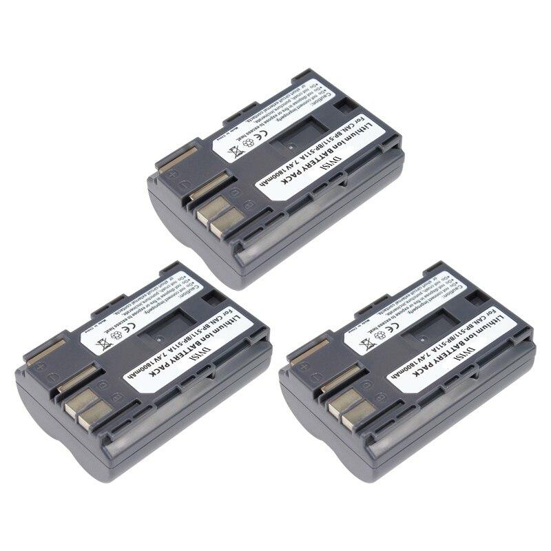 3Pcs 1.8Ah <font><b>BP</b></font>&#8211;<font><b>511A</b></font> <font><b>BP</b></font> <font><b>511A</b></font> BP511A <font><b>BP</b></font>-511 <font><b>Battery</b></font> for Canon EOS 300D 10D 20D 30D 40D 50D D30 D60 5D G6 OS 30D 40D G1 Pro 1 PV130