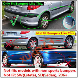 Image 4 - Mudflaps עבור Peugeot Naza 206 Bestari 1998   2012 בוץ משמרות Splash מדפי מגני בץ קדמי אחורי 1999 2000 2001 2002 2011 2010