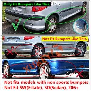 Image 4 - Spatlappen Voor Peugeot Naza 206 Bestari 1998   2012 Spatlappen Splash Guards Spatborden Voor Achter 1999 2000 2001 2002 2011 2010