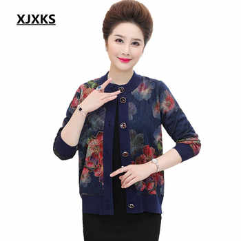 XJXKS O-Neck hot sale knitted cardigan high quality long-sleeved women\'s cashmere sweater Plus size Women coat - DISCOUNT ITEM  12% OFF Women\'s Clothing