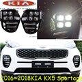 2016 ~ 2017 Elk KX5 sportage luz diurna, Libera la nave! LED, KlA sportage KX5 luz de niebla, 2 unids/set, k5, KX 5