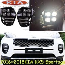 2016 ~ 2017 Оак sportage KX5 дневной свет, Бесплатные корабль! LED, Оак sportage KX5 противотуманные фары, 2 шт./компл., k5 KX 5